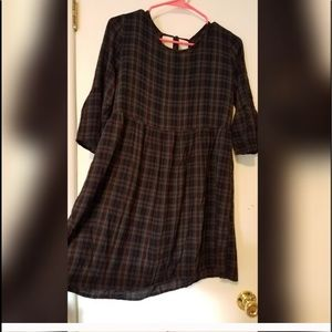 Plaid dress from Forever 21. Sz L